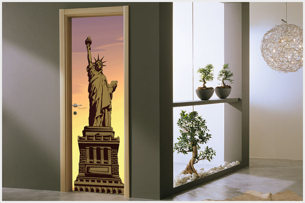 Wrapitup adesivi per porte ar10 wall stickers decorazioni murali disegni murali adesivi - Adesivi decorativi per porte ...