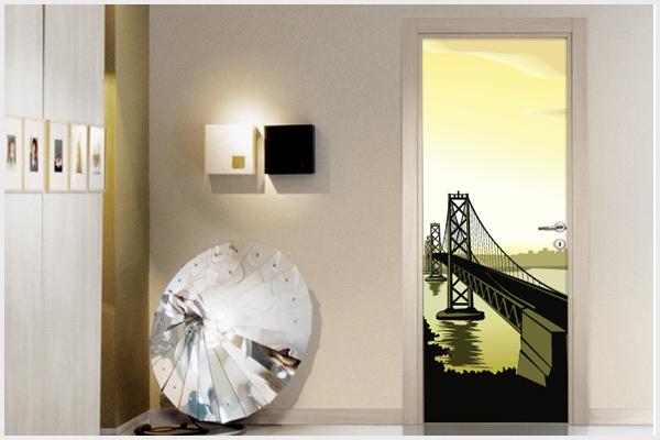 Wrapitup adesivi per porte ar30 wall stickers decorazioni murali disegni murali adesivi - Porte decorate adesivi ...