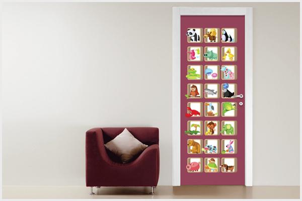 Adesivi Per Mobili Bambini : Wrapitup adesivi per porte pt wall stickers decorazioni