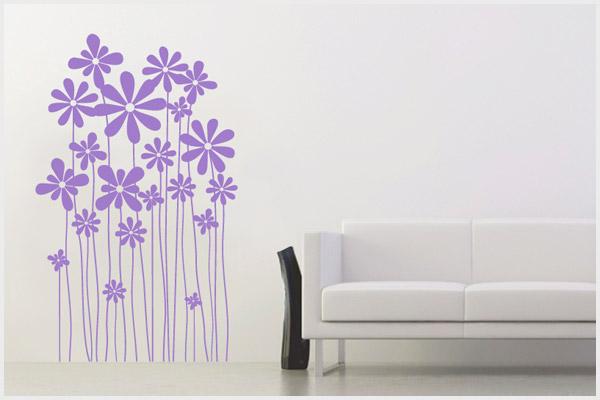 Wrapitup adesivi murali floreali fl150 wall stickers decorazioni murali disegni murali - Decori adesivi per pareti ...