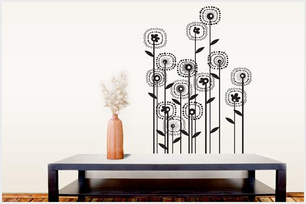 - Adesivi Murali: Floreali FL155/ Wall stickers, Decorazioni murali ...