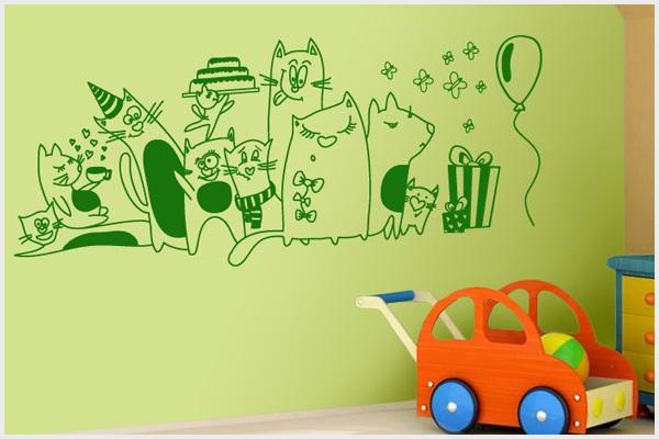 Wrapitup adesivi murali bambini kd105 wall stickers - Adesivi per mobili bambini ...
