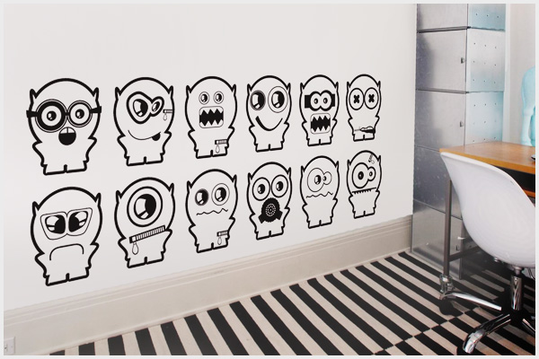 Armadio Disegno Per Bambini : Wrapitup adesivi murali bambini kd wall stickers