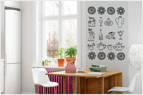 Wrapitup adesivi murali cucina kt111 wall stickers for Stickers cucina