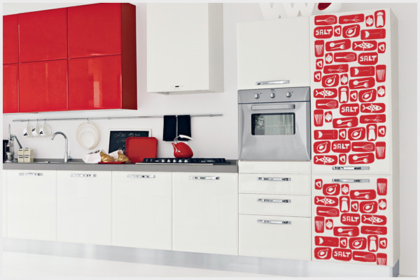 Wrapitup adesivi murali cucina kt130 wall stickers for Stickers cucina